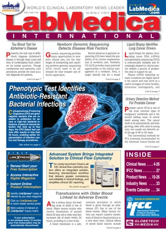 LabMedica International April 2019 by Globetech - issuu