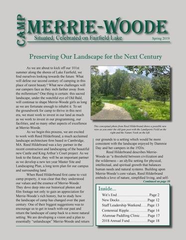 Camp Merrie-Woode Newsletter - Spring 2019 by Camp Merrie