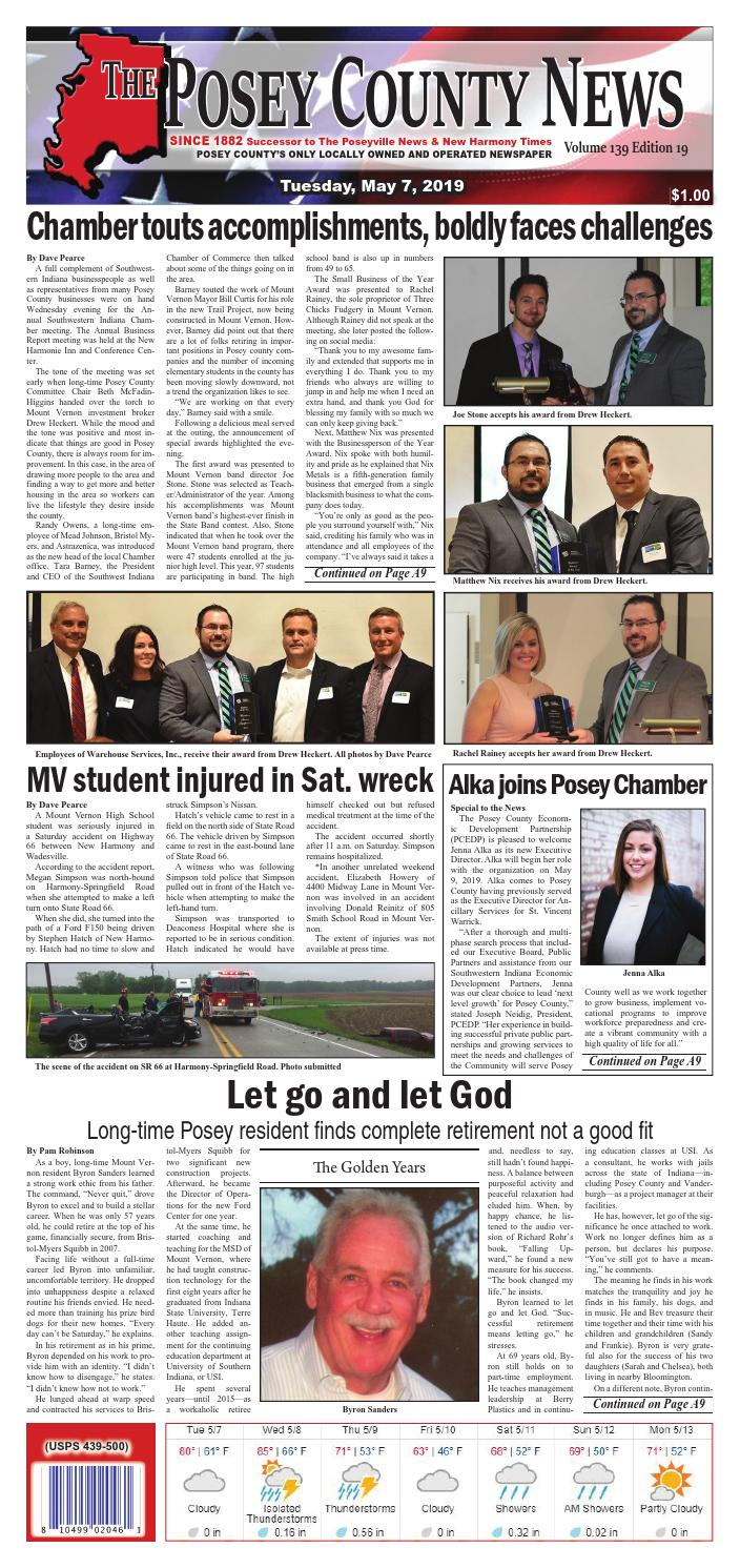 May 7, 2019 - The Posey County News by The Posey County News