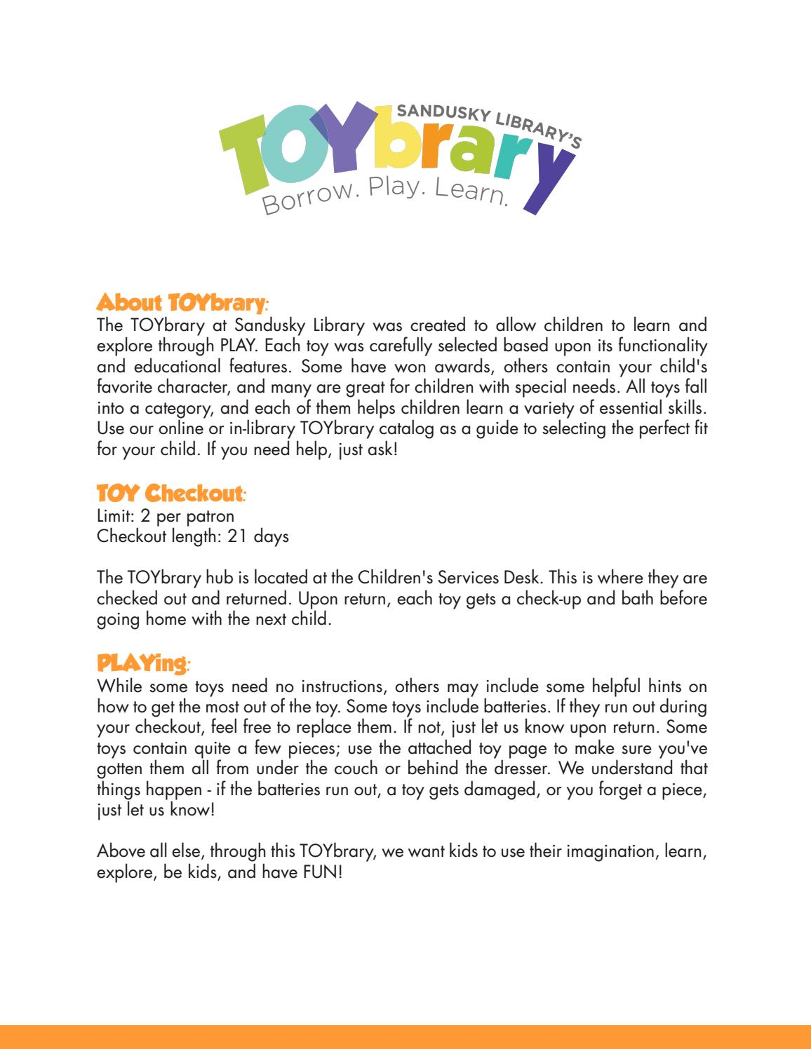 Toybrary Catalog by Sandusky Library - issuu