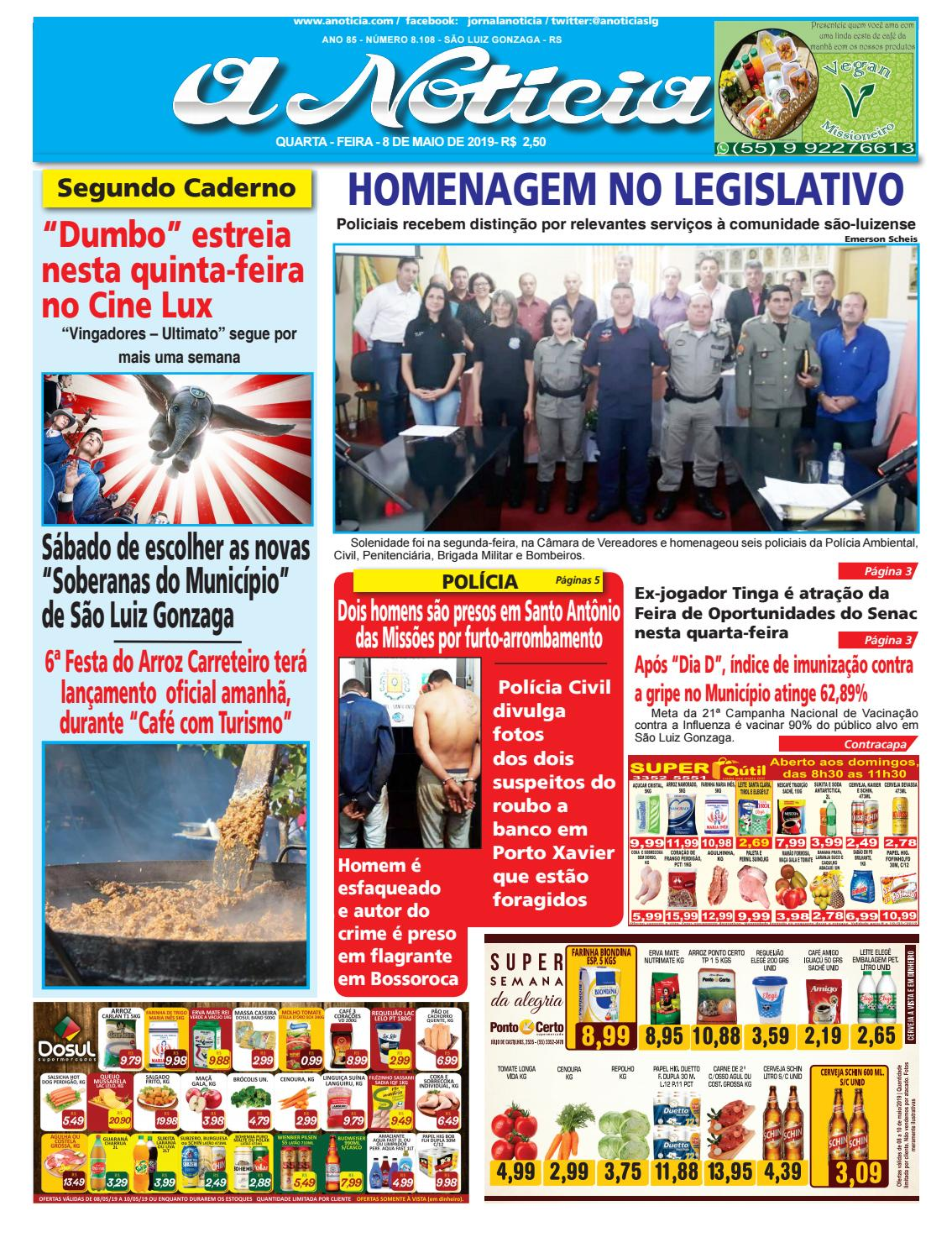 4c6ec13c6 Edição do dia 8 de maio de 2019 by Jornal A Notícia - issuu