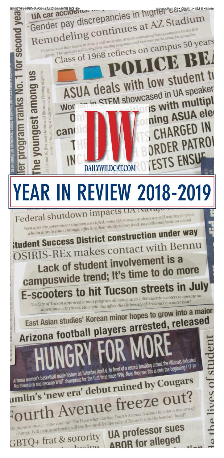 Year in Review 2018-2019 by Arizona Daily Wildcat - issuu