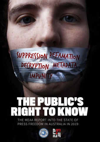 f39c32d147 The Public's Right To Know: the report into the state of press ...