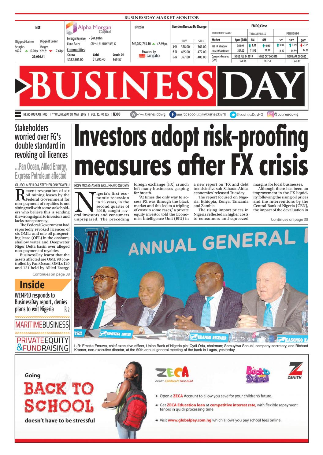BusinessDay 08 May 2019 by BusinessDay - issuu