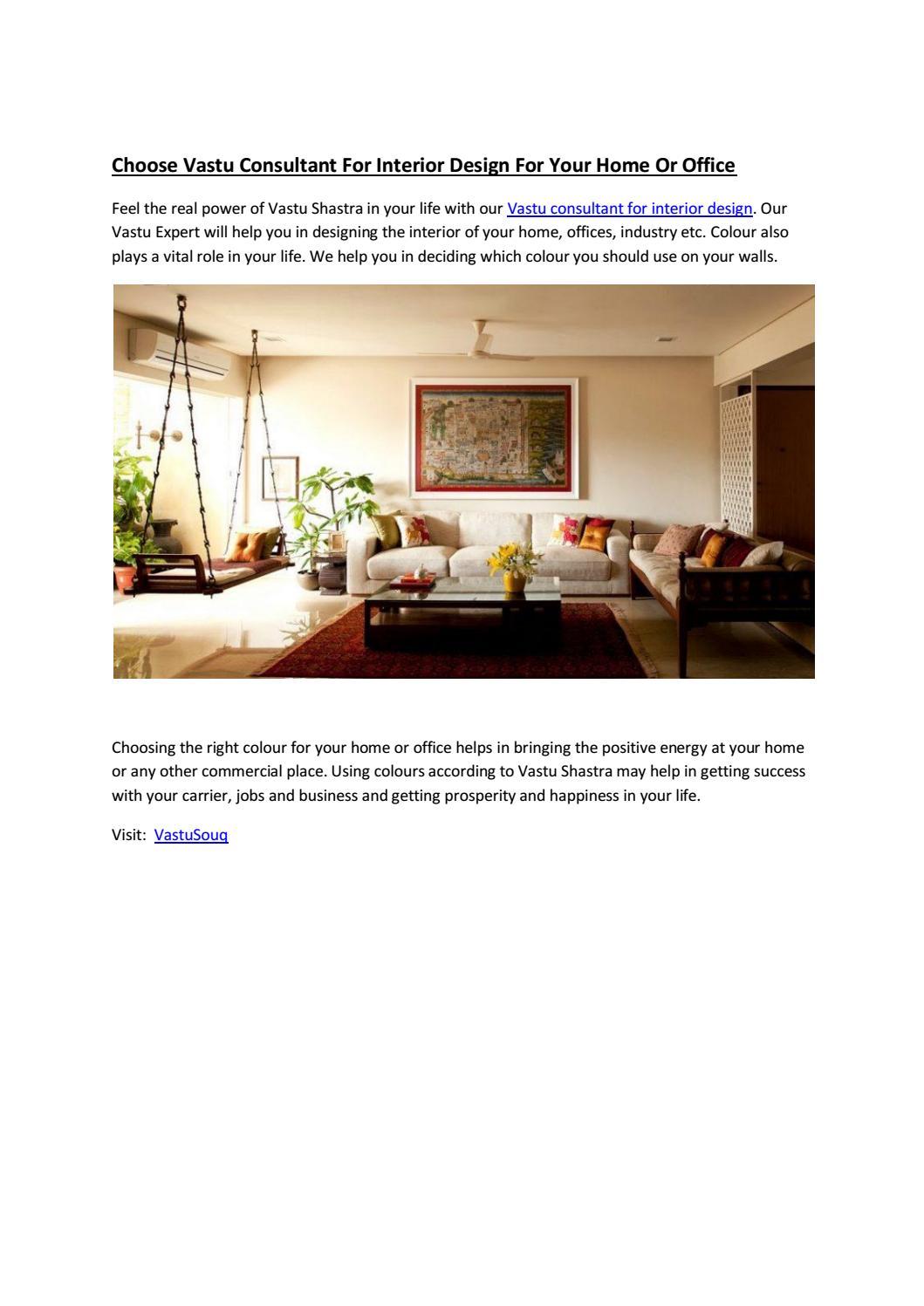 Choose Vastu Consultant For Interior Design For Your Home Or