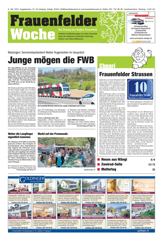 Frauenfelder Woche, Ausgabe KW 37, 11. September 2019 by
