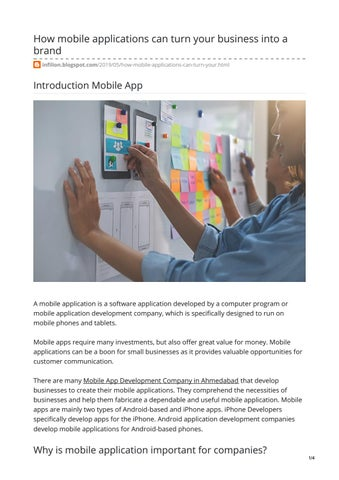 How mobile applications can turn your business into a brand