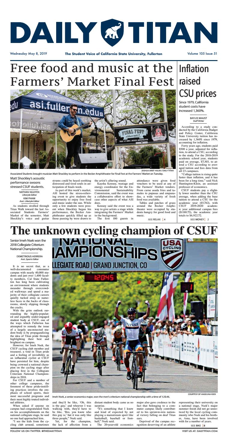 Csuf Asi Spring Concert 2020.Wednesday May 8 2019 By Daily Titan Issuu