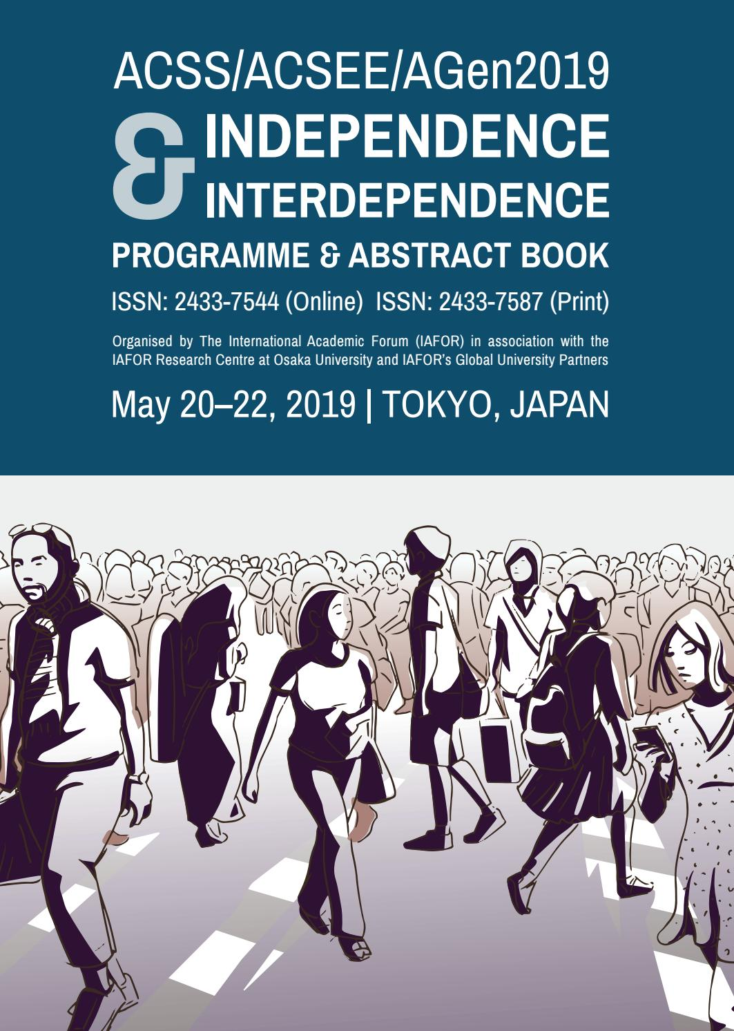 f5107fef7 Independence   Interdependence  Conference Programme   Abstract Book by  IAFOR - issuu