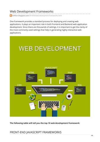 Web Development Frameworks by infilon - issuu