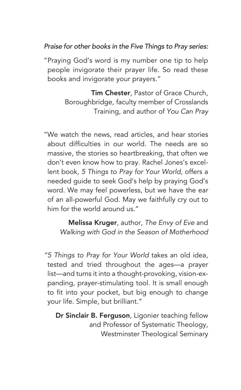 Tuesday: Pray for God's Family