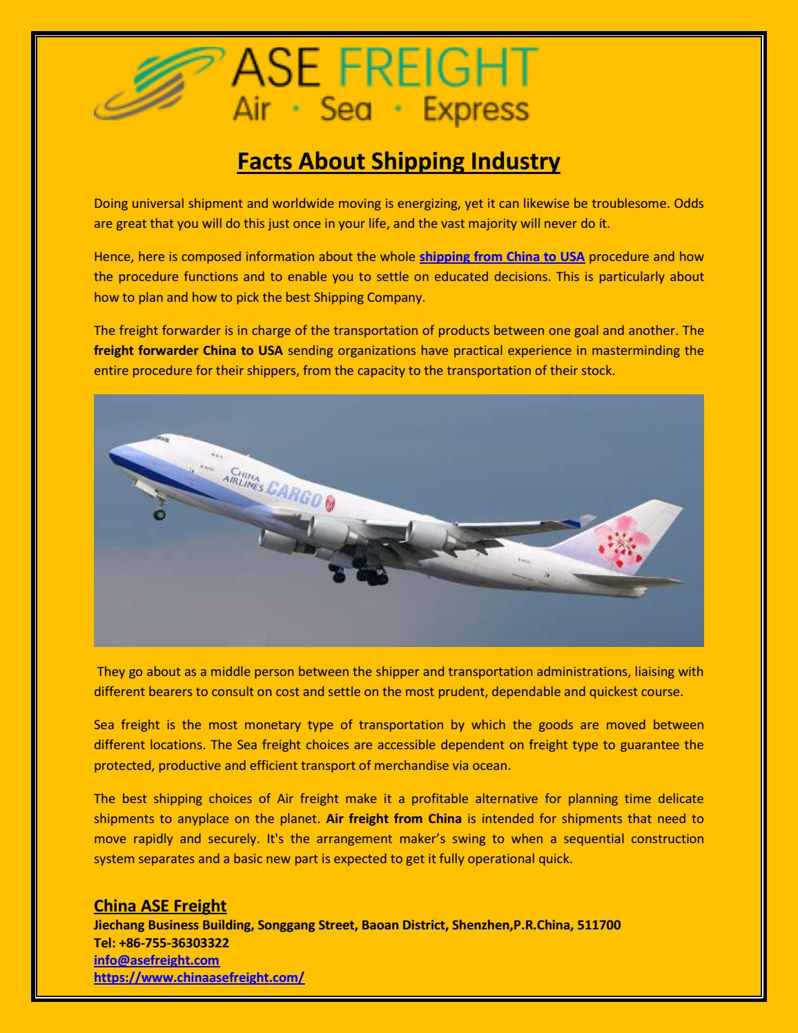 Facts About Shipping Industry by ASE Freight - issuu