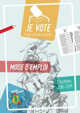 Page 1 of Je vote - Mode d'emploi - Élections 2018-2019 - Région Bruxelles-Capitale
