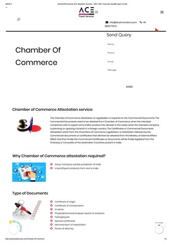 Chamber ofcommerce ace attestation services – mea, hrd
