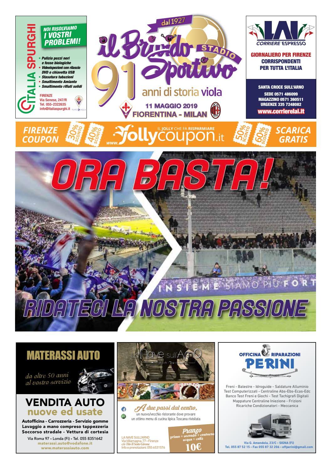 Materassi Auto Londa.Il Brivido Sportivo Fiorentina Milan Del 11 05 2019 By Sportmedia