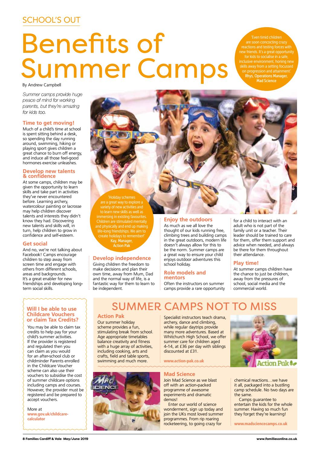 Families Cardiff & Vale Magazine (May/June 2019) by Families