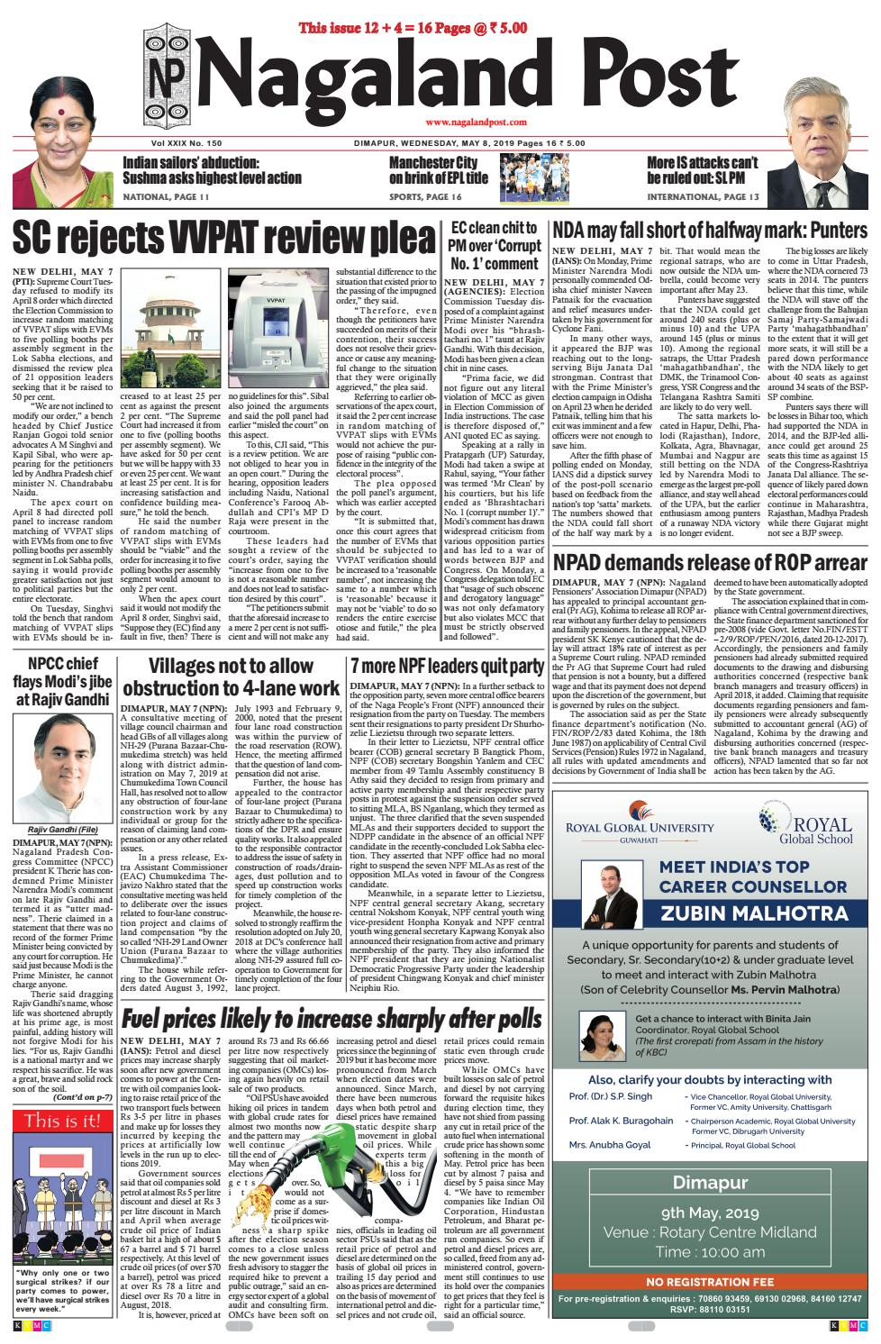 May 8, 2019 by Nagaland Post - issuu