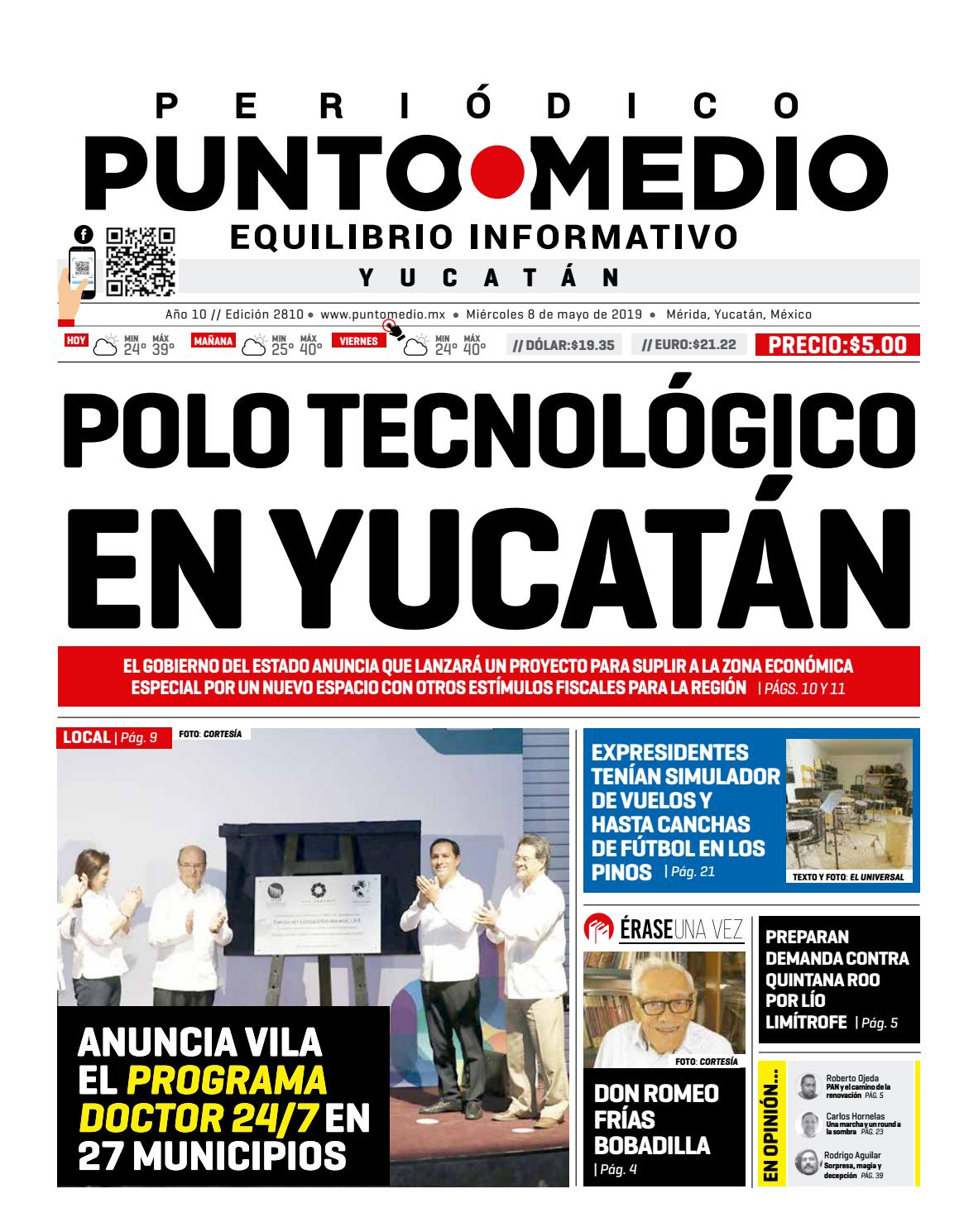 2817348fe62a MIERCOLES 8 DE MAYO DE 2019 by Punto Medio - issuu