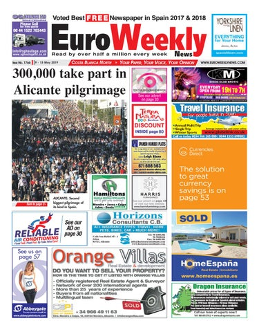 Euro Weekly News - Costa Blanca North 9 - 15 May 2019 Issue