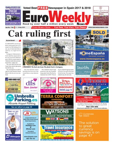 Euro Weekly News - Costa Blanca South 9 - 15 May 2019 Issue