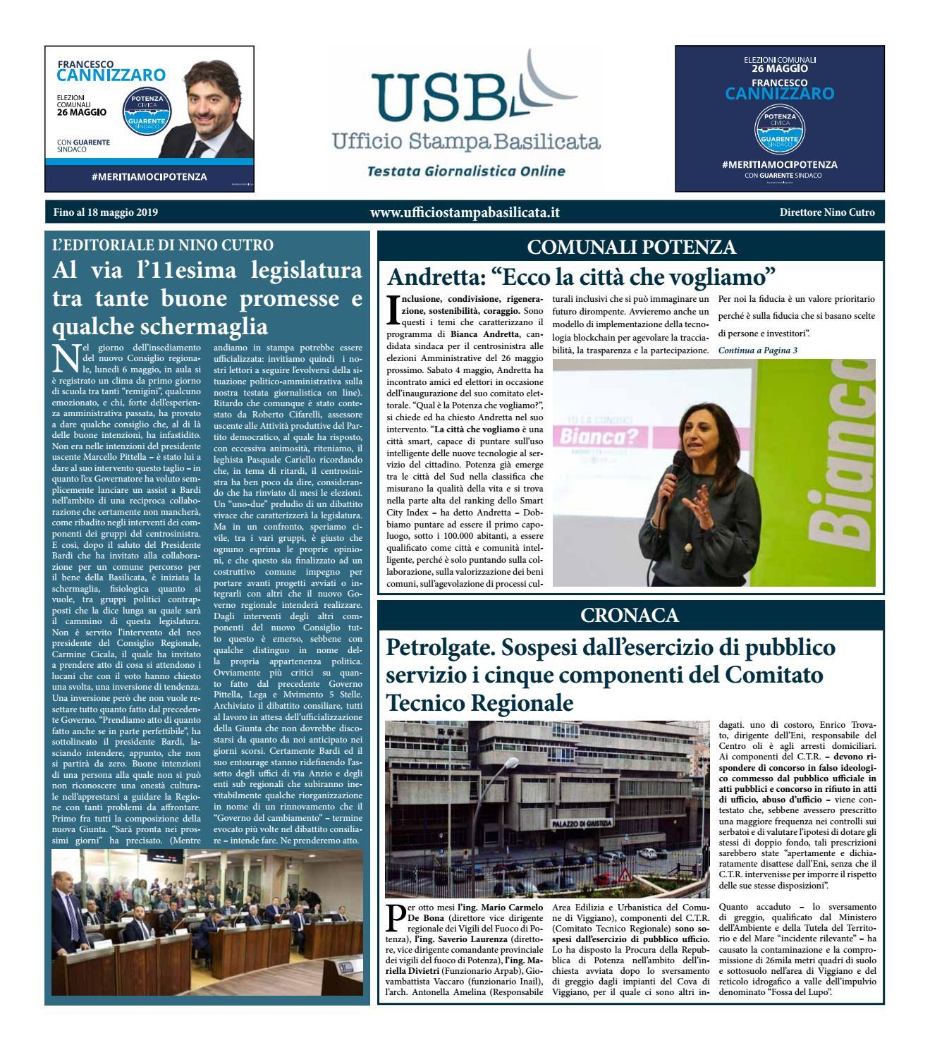 Il Settimanale di Ufficio Stampa Basilicata by Ufficio