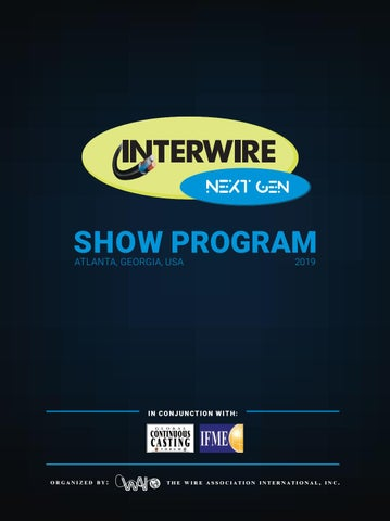 Interwire 2019 Official Show Program by Wire Journal International