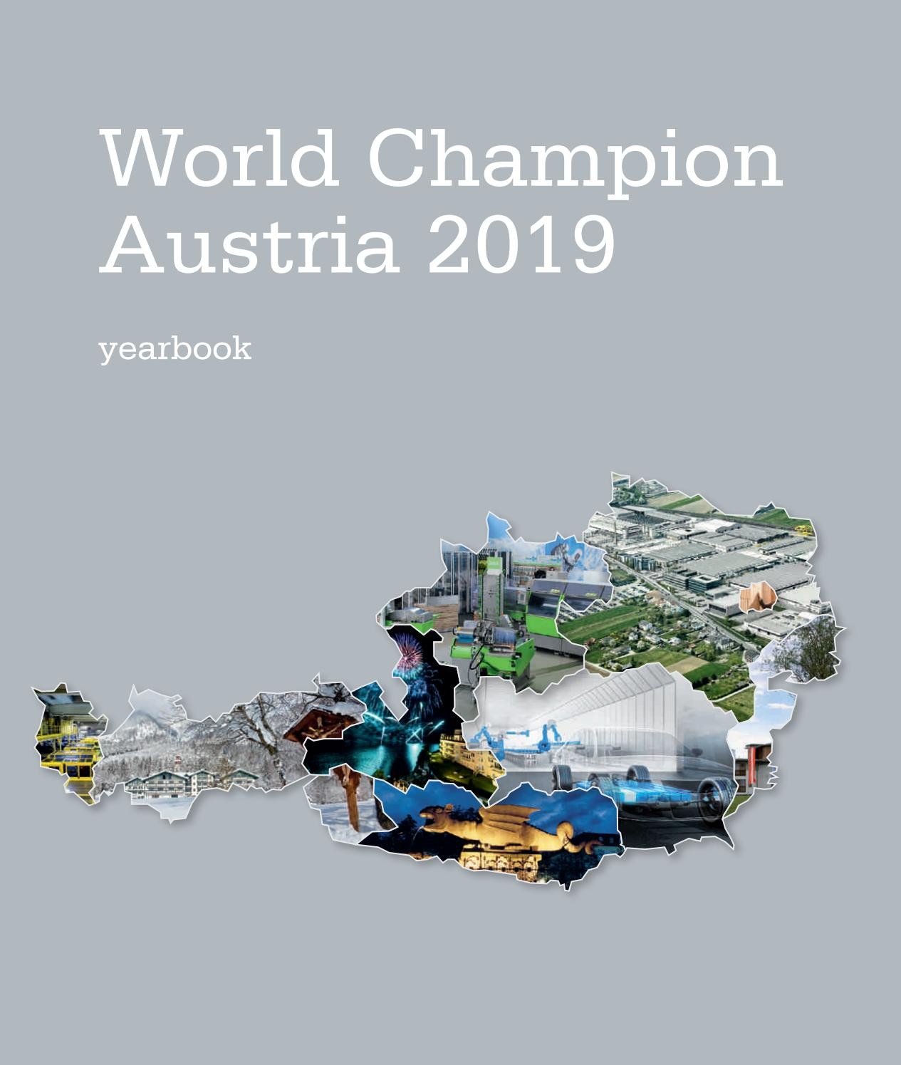 World Champion Austria - The yearbook 2019 by medianet - issuu