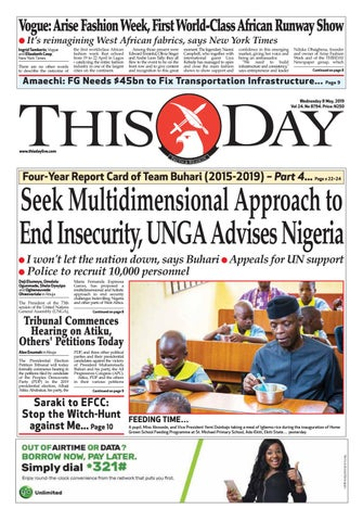 ad70d62288 WEDNESDAY 8TH MAY 2019 by THISDAY Newspapers Ltd - issuu