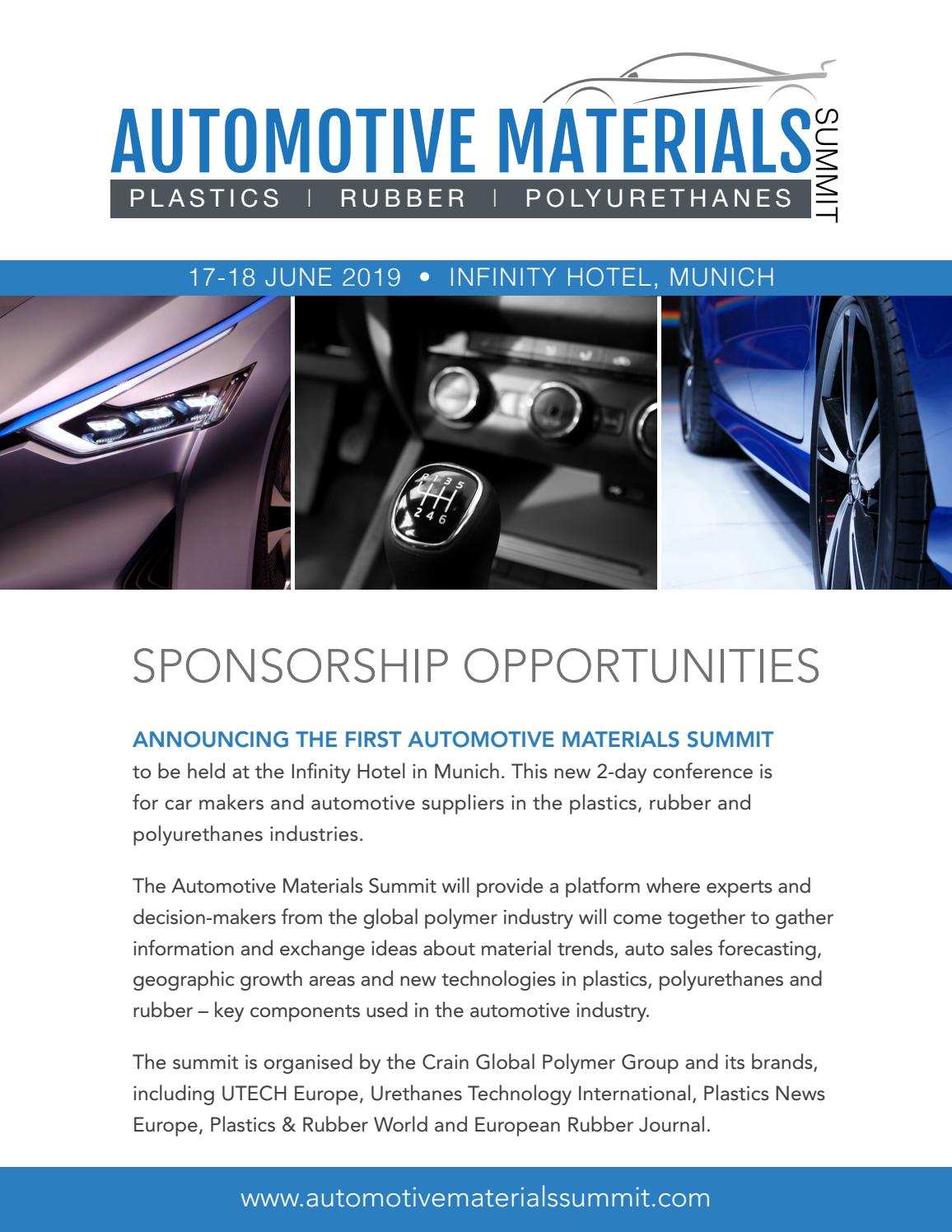 Automotive Materials Summit 2019 Sponsorship Brochure by crain3 - issuu