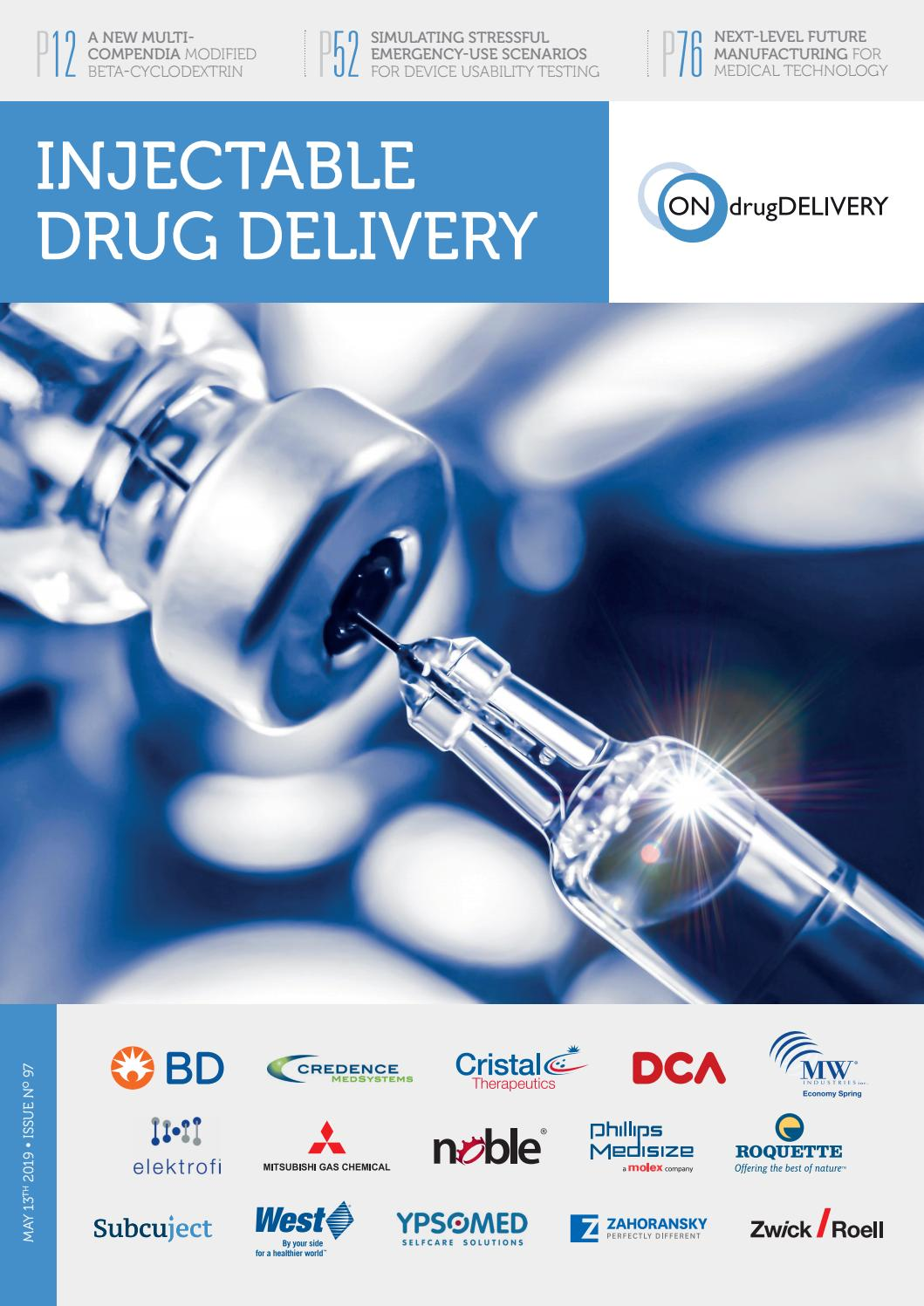 Injectable Drug Delivery - ONdrugDelivery - Issue 97 - May 2019 by