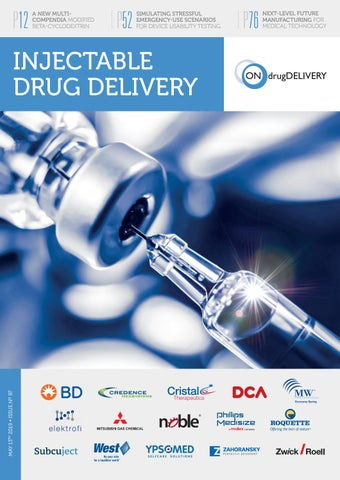 Injectable Drug Delivery - ONdrugDelivery - Issue 97 - May
