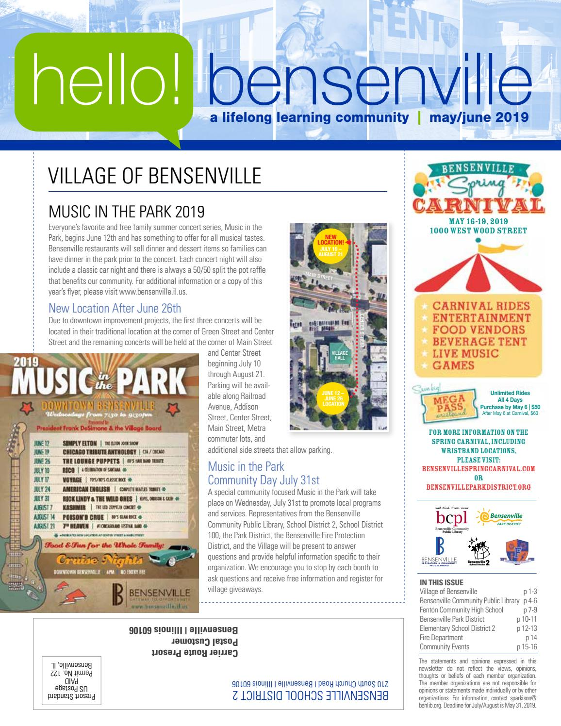 Community Newsletter MAY/JUNE 2019 by Village of Bensenville