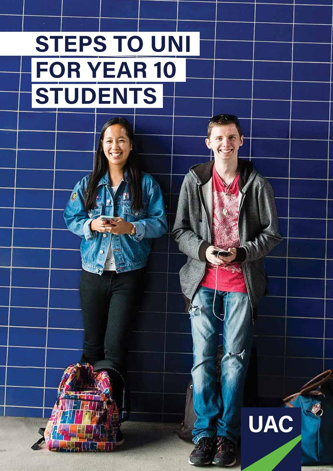 Download Steps to Uni for Year 10 Students