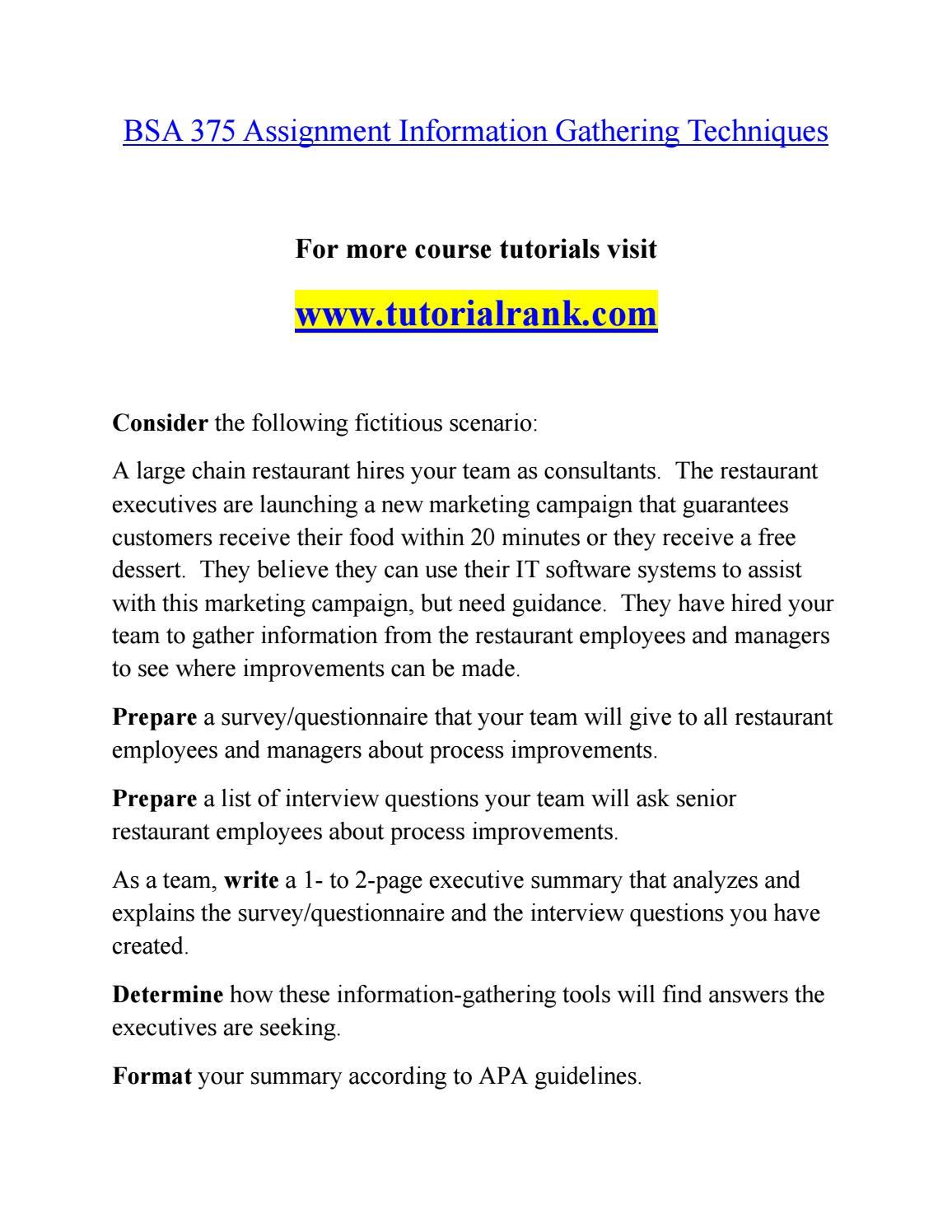 BSA 375 Effective Communication/tutorialrank com by