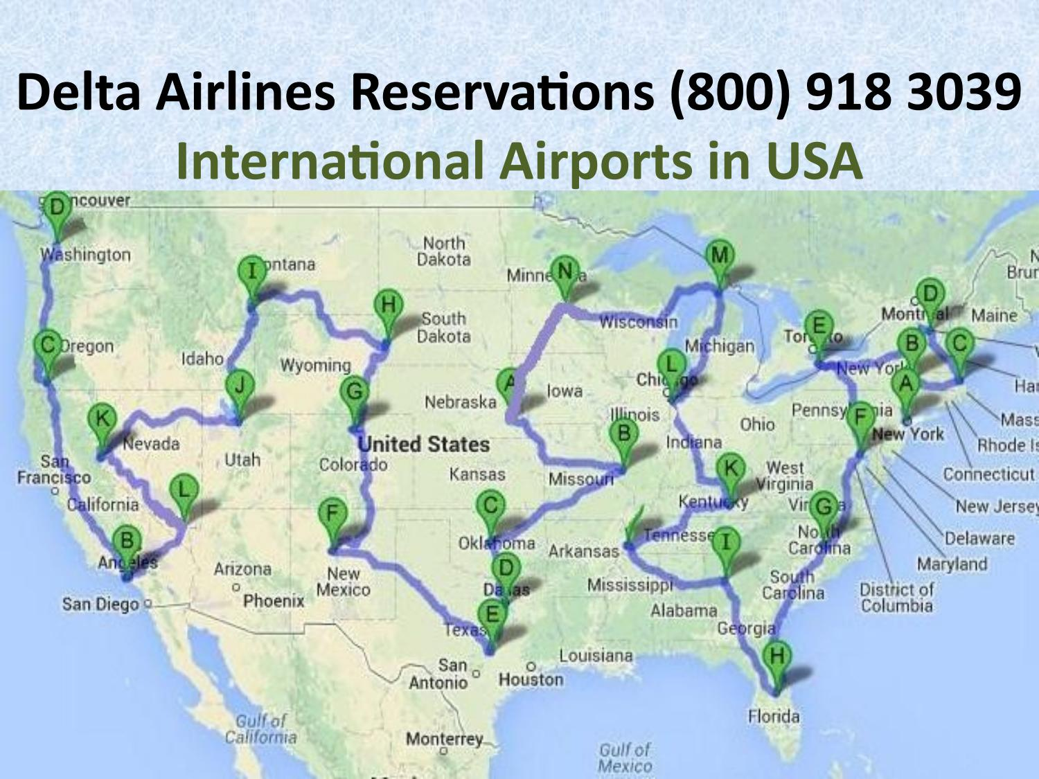 International Airports in USA - (800) 918 3039 Delta ...