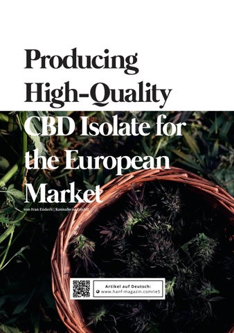 Page 118 of Producing High-Quality CBD Isolate for the European Market