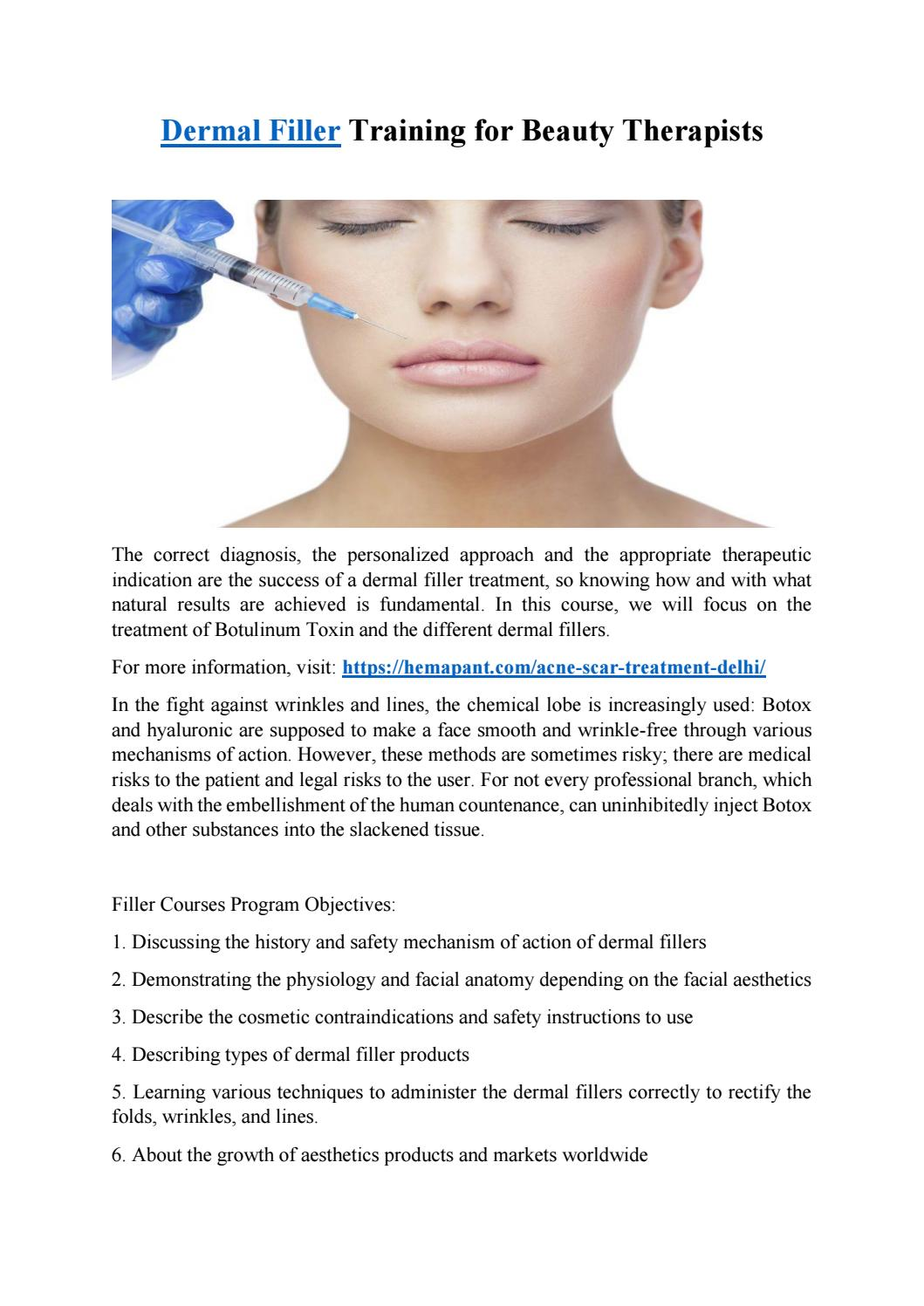Dermal Filler Training For Beauty Therapists by Rohan Singh - issuu