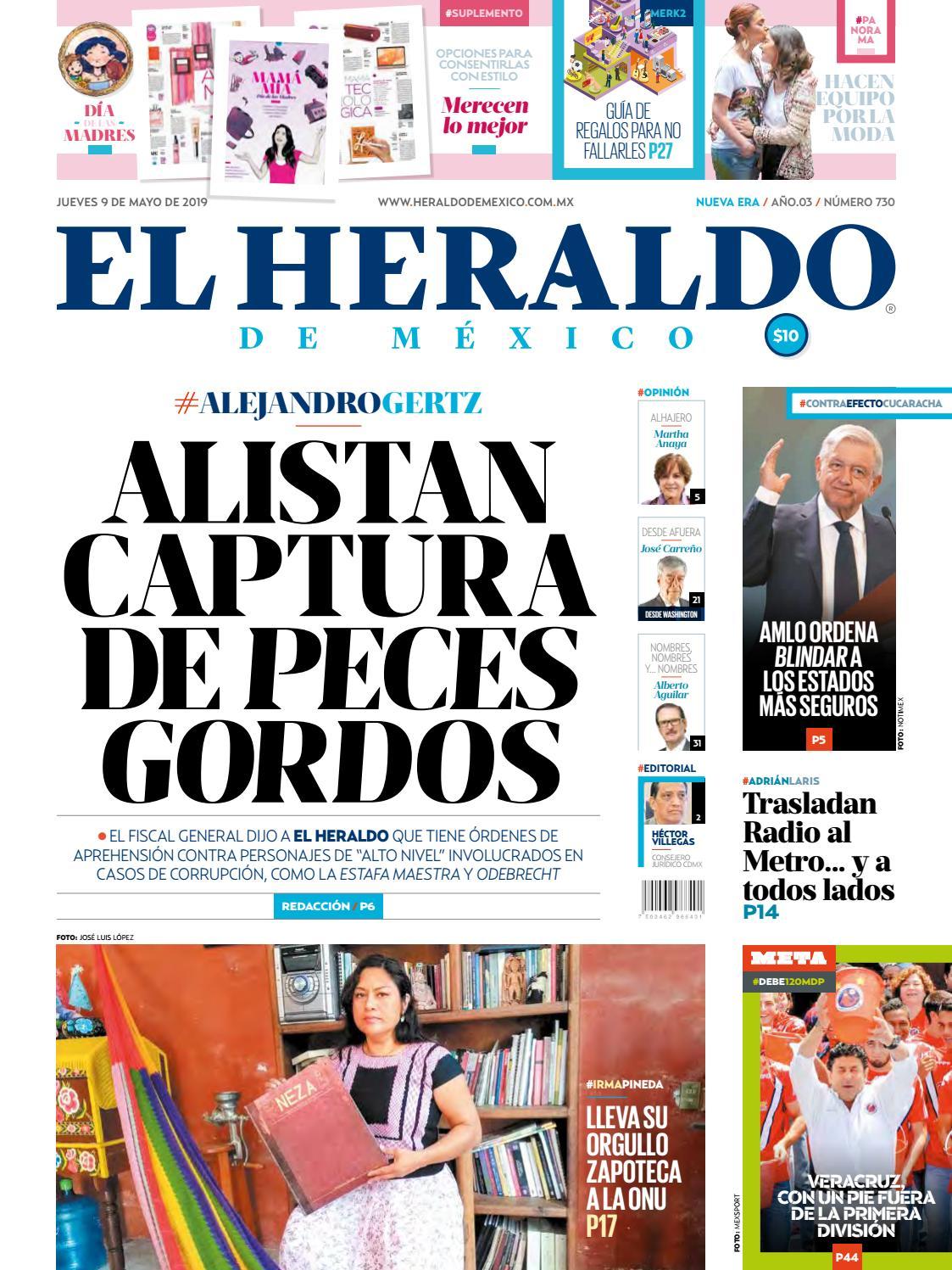 88578cf2ee Jueves 9 de mayo de 2019 by El Heraldo de México - issuu