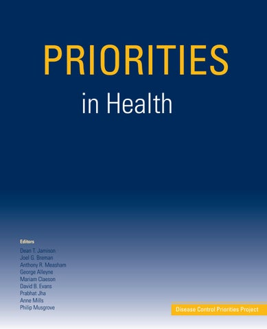 Priorities in Health by World Bank Group Publications - issuu