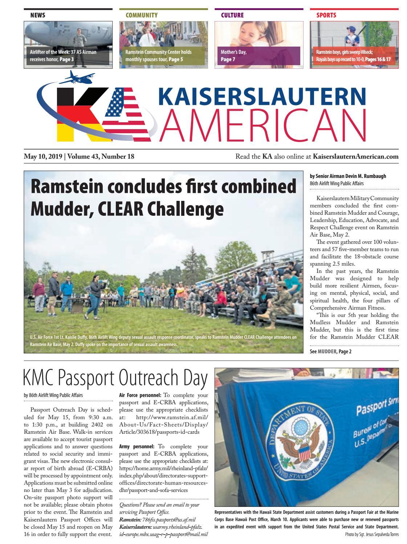 Kaiserslautern American, May 10, 2019 by AdvantiPro GmbH - issuu