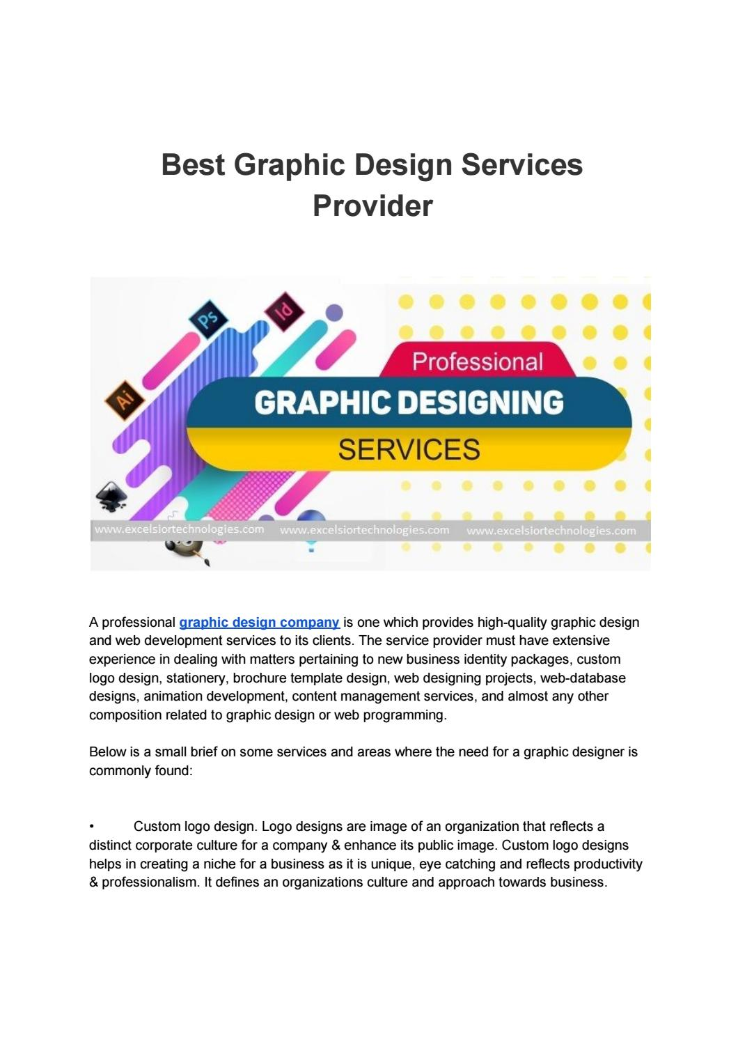 Best Graphic Design Services Provider By Excelsior Technologies Issuu