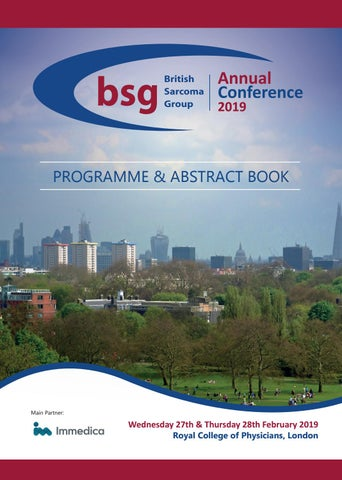 BSG Conference 2019 - Programme & Abstract book by Echo