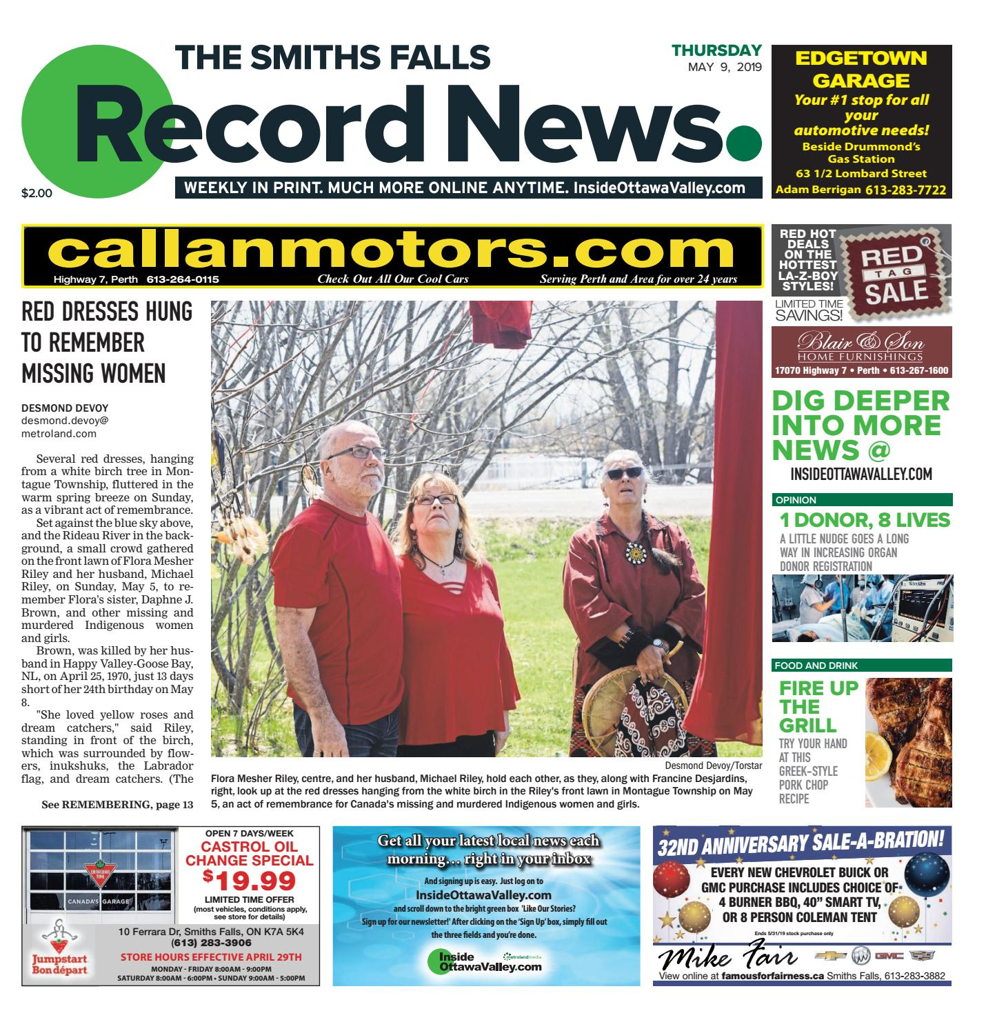 smiths falls record news may 9 2019 by metroland east smiths rh issuu com