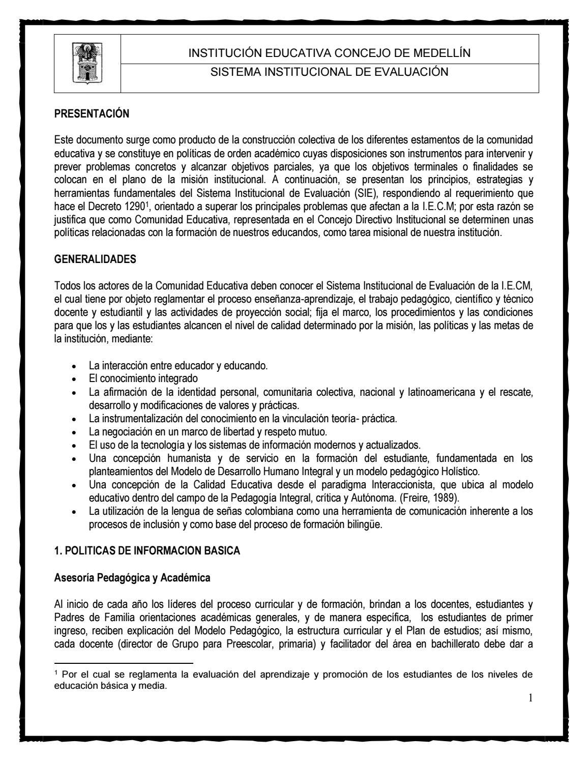 Sie Ie Concejo De Medellin By Diego Diaz Issuu