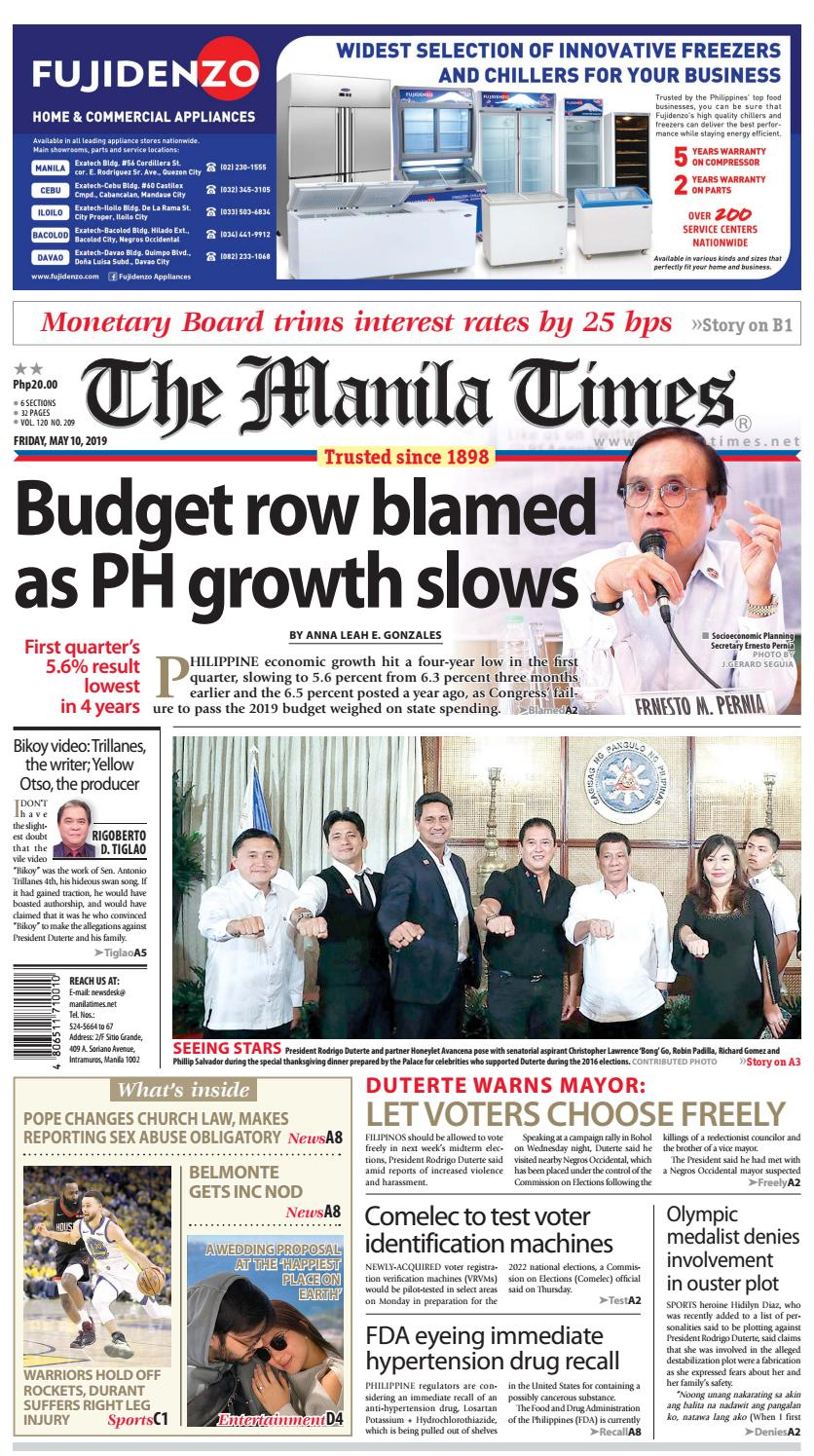 THE MANILA TIMES | MAY 10, 2019 by The Manila Times - issuu