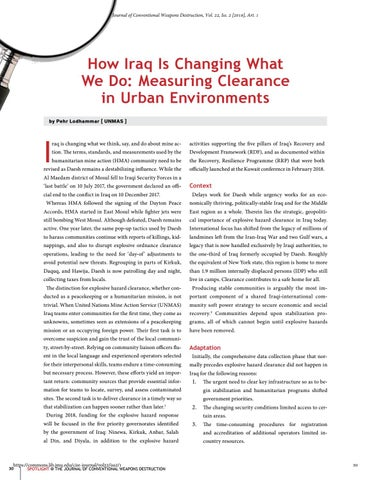 Page 30 of How Iraq Is Changing What We Do: Measuring Clearance in Urban Environments