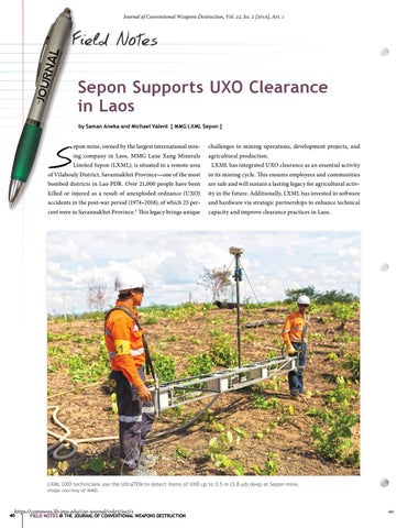 Page 40 of Sepon Supports UXO Clearance in Laos
