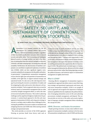 Page 5 of Life-Cycle Management of Ammunition: Safety, Security, and Sustainablility of Conventional Weapons Ammunition Stockpiles