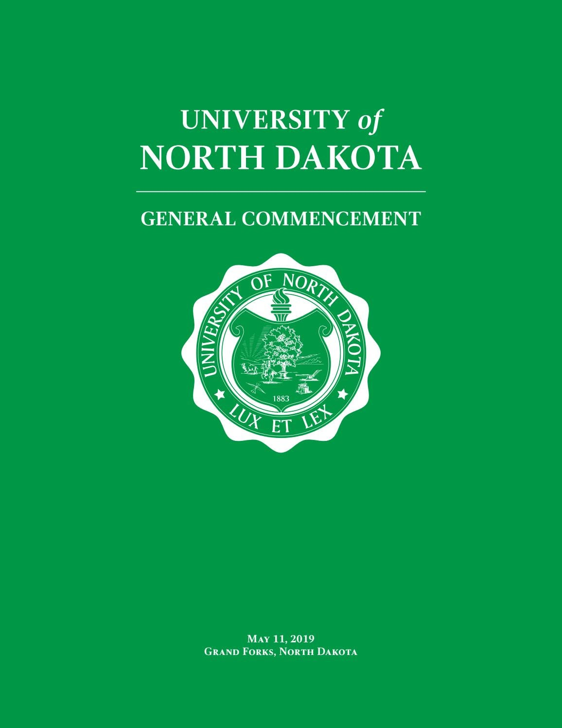 2019 university of north dakota spring commencement by university of north dakota issuu 2019 university of north dakota spring