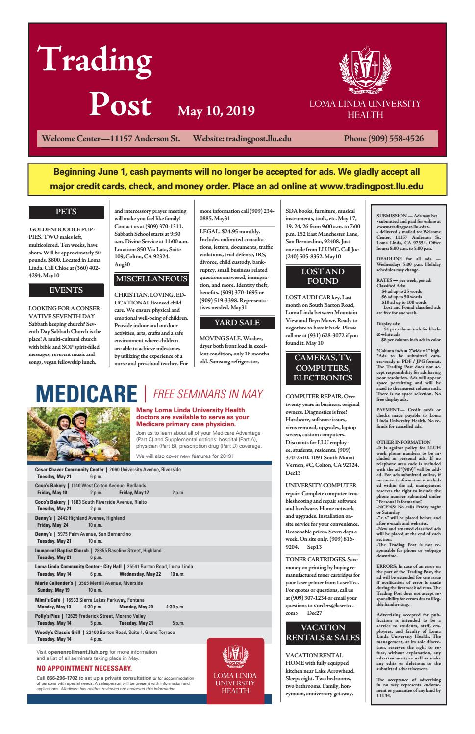 Trading Post May 10 2019 By Loma Linda University Health Issuu